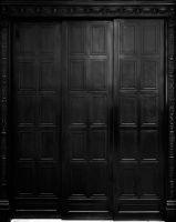 Photographie argentique noir et blanc contrecollée sur aluminium - 228 x 181 cm