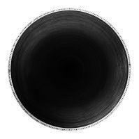 Photographie argentique noir et blanc contrecollée sur aluminium, silhouettée Ø 120 cm