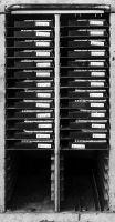 Photographie argentique noir et blanc contre-collée sur aluminium - 100 x 50 cm