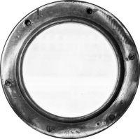 Photographie argentique noir et blanc contre-collée sur aluminium, silhouettée - Ø 46 cm