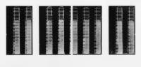 Photographies argentiques noir et blanc contre-collées sur aluminium - 85 x 200 cm